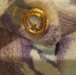 St. John Sweaters - Lavender & Blue button front St John sweater